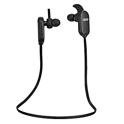"""#1 Bluetooth Earbuds for Fitness/Workouts by Audiopureâ""""¢. Premium Sweatproof Wireless Earbuds w/ Bluetooth 4.0+EDR & BassXâ""""¢ Enhanced Audio. The Best Bluetooth Headphones for Sport, Gym & Running + BONUS **FREE Carry Bag** - Noise Cancelling Microphone,"""