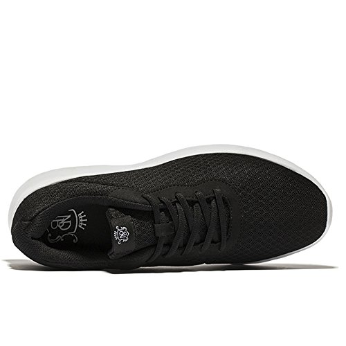 Chaussures De Course Athlétiques Légères De Needbo Des Femmes Des Hommes, Espadrilles Respirantes De Marche De Jogging De Maille Respirable Noir
