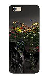 Pretty Qle276TYnHW Iphone 6 Plus Case Cover/ Art Artistic Mae Paintings Nature Flowers Landscapes Vehicles Wagon Wheels Dark Fields Grass Sky Clouds Moon Light Fantasy Plants Color Series High Quality Case For Thanksgiving Day's Gift