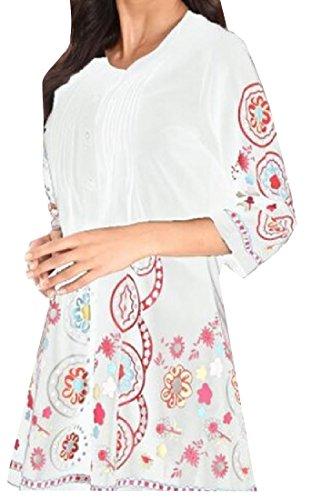 Digitale Vestito Oversize Girocollo 10 Della Top 3 4 donne Stampa Coolred xqw4Ot4