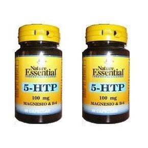 Triptofano 5-Htp + Magnesio + Vitamina B6 100 mg 60 cápsulas de Nature Essential