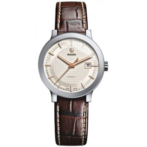 Rado-Centrix-S-Silver-Dial-Ladies-Leather-Watch-R30940125