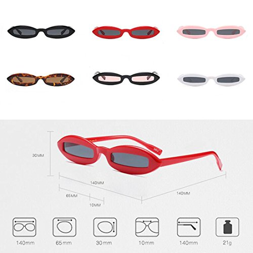 Todo Sunglasses Eyewear Fashion Oval Small Yefree Rojo Mujeres de Oval Frame Gris moda Diseñador 4t7gwqSw