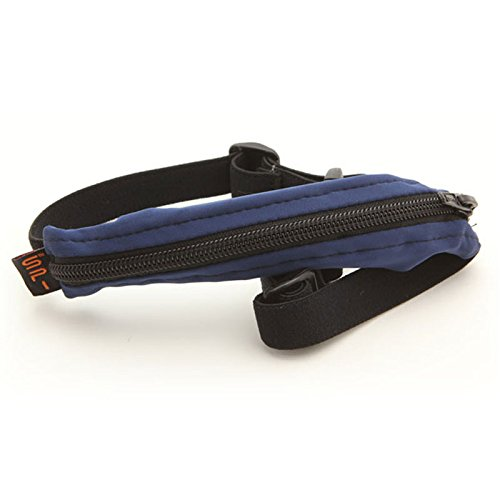 SPIbelt Kids No-Bounce Belt with Hole for Insulin Pump, Medical Devices or Headphones for Active Kids! (Blue with Black Zipper) by SPIbelt (Image #8)