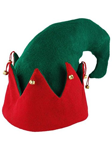 fx Felt Elf Hat Costume Accessory (Red) - Hobbit Dwarf Costume