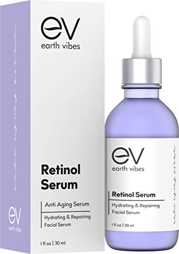 Natural Retinol Serum - Clinical Strength Retinol Serum Face Moisturizer Cream for Anti Aging, Anti Wrinkle, Acne - Organic and Natural Ingredients (1oz/30ml)