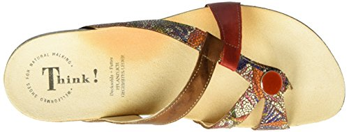 Think Julia, Chanclas para Mujer Multicolor (muskat/kombi 40)