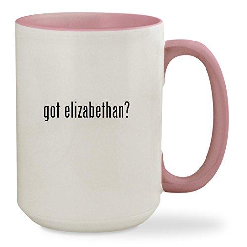 got elizabethan? - 15oz Colored Inside & Handle Sturdy Ceramic Coffee Cup Mug, Pink