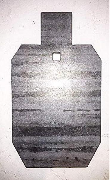 "AR500 1//2 gare IPSC Acciaio Tiro Bersaglio Gong 1//2/"" Silhouette 9""X 15/"""