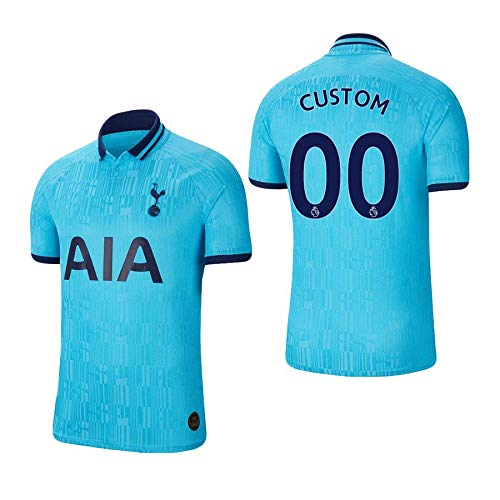 Buy Men S Jersey 19 20 Tottenham Hotspur 00 Custom Blue 2019 2020 3rd Third Home Away Football Jersey Large At Amazon In