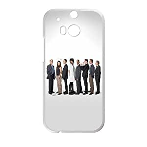 Cute TPU NCIS Cast HTC One M8 Cell Phone Case White