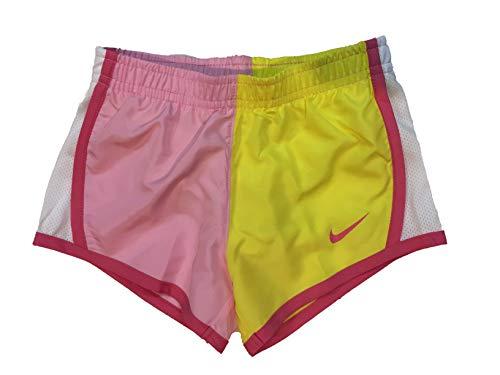 Tempo Dri Shorts Nike Fit Women Running (Nike Girl`s Dri-FIT Running Tempo Shorts (Yellow(26D988-Y3C)/White, 3T))