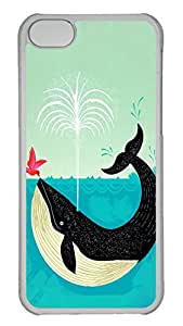Customized iphone 5C PC Transparent Case - Whale Cover