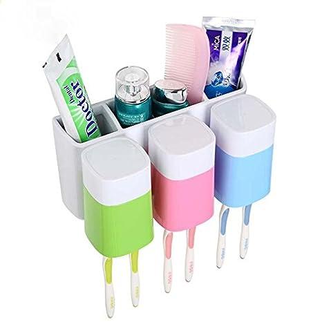 MZP tipo de pared de tres cepillo de dientes cepillo de dientes titular de rack fijar el recipiente para polvo creativa sencilla Cepillo de dientes Vaso ...