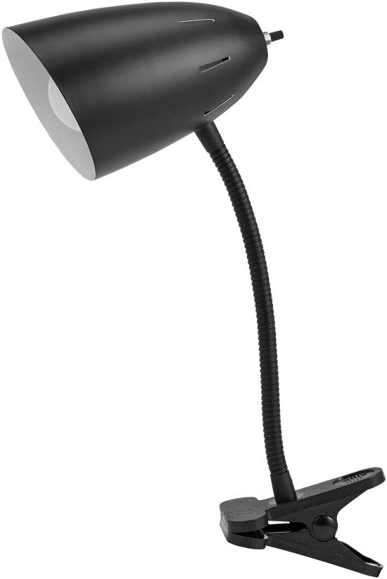 Catalina Lighting 17974 006 Traditonal Adjustable Metal Gooseneck Clip On Desk Task Table Lamp 19 Classc Black Home Improvement