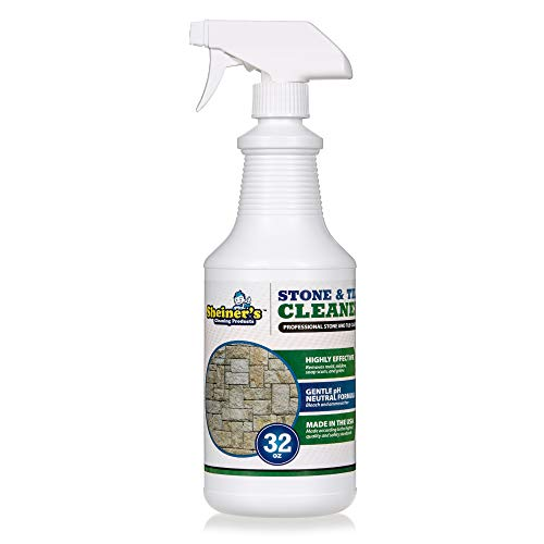 Sheiner's Stone & Tile Cleaner, Heavy Duty Professional Floor Cleaner for Grout, Natural Stone, Marble, Granite, Polished Concrete, and Travertine Surfaces, 32 Oz Spray - Natural Marble Tile