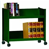 Sandusky Lee SR227-08 Sloped Shelf Welded Bookcase, 14'' Length, 29'' Width, 25'' Height, 2 Shelves, Forest Green