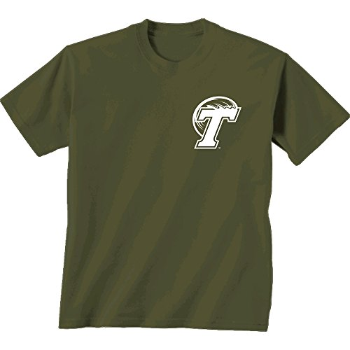 NCAA Tulane Green Wave Adult Initial Pattern Short sleeve, Medium, Cc Monterey Sage (World Tulane Green)