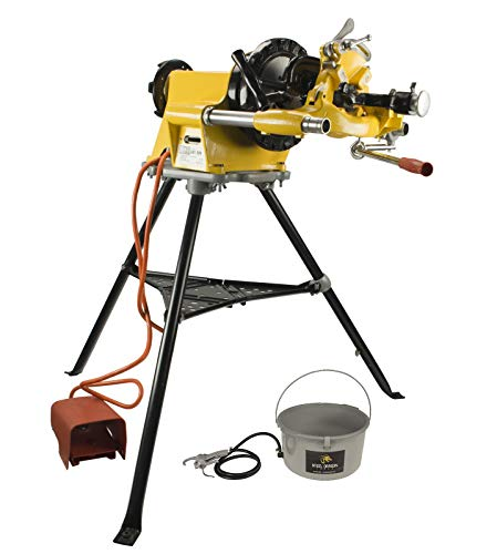Steel Dragon Tools 300 Pipe Threading Machine Includes 811A Die Head 418 Oiler 1206 Stand fits RIDGID 15682 ()