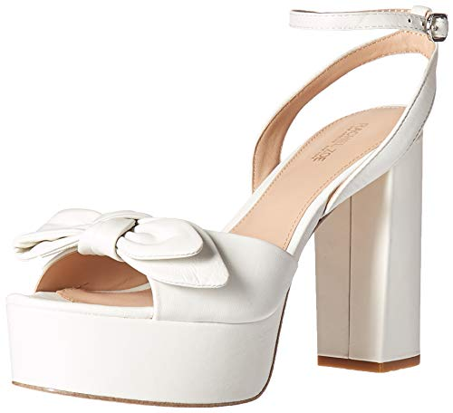 Rachel Zoe Women's Courtney Platform Sandal Heeled, White 6 M US