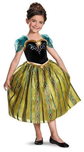 [Anna Coronation Gown Deluxe Costume - X-Small] (Anna Frozen Green Dress Costume)