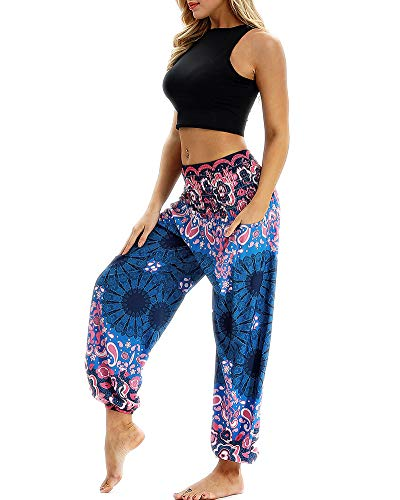 Style Sarouel 3 Harem Smockée Femmes Pantalon Missmao Boho Taille Pants Ppqw8fx5
