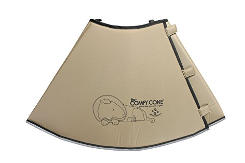 All Four Paws Comfy Cone Pet Collar, XX-Large, Tan