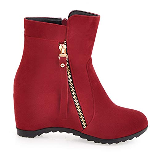 rosso Stivali classici in da velluto Aiyoumei donna zYwdaqW6
