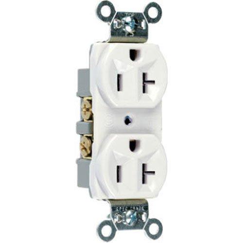 Pass & Seymour Outlet (Legrand - Pass & Seymour CR20WCC12 Commercial Grade Duplex Receptacle 20-Amp 125-volt, White)