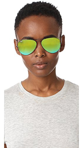 Gafas sol Green para Gradient Negro Large de Aviator Flash Ray Hombre Metal Ban 0wqvxZxYI