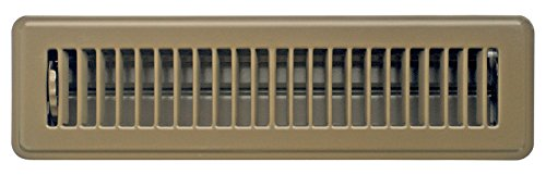 Accord ABFRBR212 Floor Register with Louvered Design, 2-Inch x 12-Inch(Duct Opening Measurements), Brown
