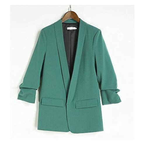 (Womens Blazer Jacket None Button Work Office Lady Suit Casual Slim Business Coat )
