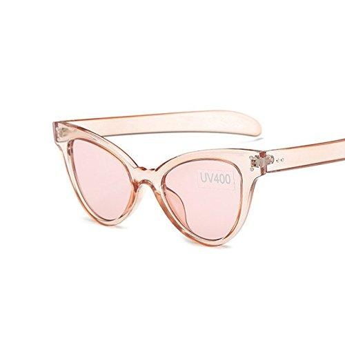Oculos nbsp;– Sol verde mujer Cateye Gafas nbsp;Sunglases De TM transparente de Feminino gafas sol de Mujeres tocoss funda marca ojo rosa de Vintage gato Sol 1qT8H