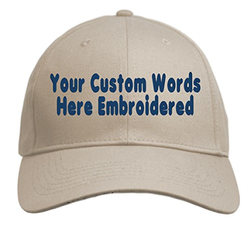 Custom Hat, Embroidered. Your Own Text. Adjustable Back. Curved Bill ()