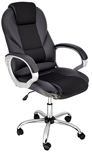 Breathable High-Back Executive Chair with Comfort-Airflow (Black Rolling Desk Chair for Office) - Back Executive Office Chair