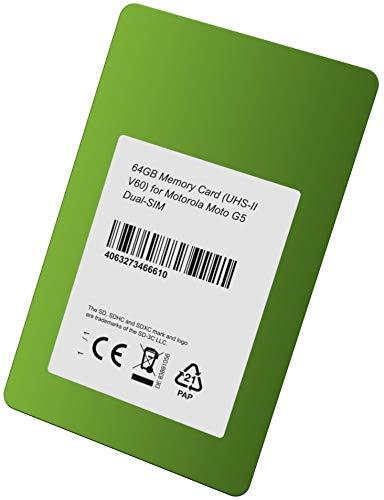 UHS-II V60 - Tarjeta de Memoria para Motorola Moto G5 (64 GB ...