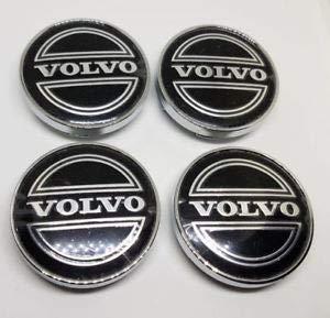 4/x 60/mm Jqlcgtmqwu Volvo Noir Bo/îtier de la Roue hub Center Caps embl/èmes insignes