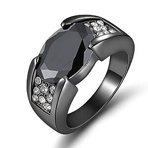 Size 8,9,10,11 Man's Luxury Black Sapphire Black 10KT Gold Filled Fashion Rings#by pimchanok shop