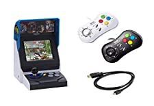 NEOGEO Mini International + Gamepads(Two White),Retro Game Console,40 Classic Games