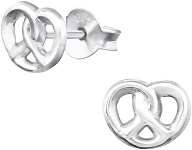 Liara Polished And Nickel Free Round Ear Studs With Cubic Zirconia Sterling Silver 925