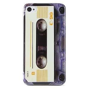 conseguir Estilo de la cinta patrón duro para el iPhone 4 y 4S (blanco)