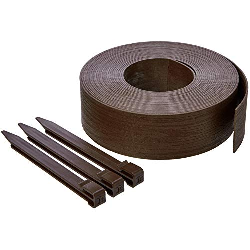 AmazonBasics Landscape Edging Coil with Stakes, 3""