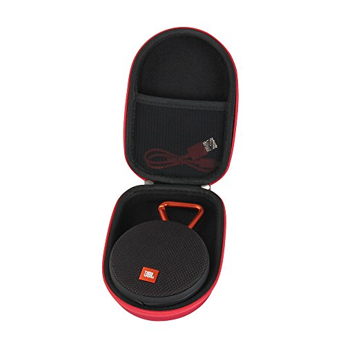 Hermitshell EVA Hard Protective Case Carrying Pouch Cover Bag Fits JBL Clip 2 Waterproof Portable Bluetooth Speaker (Red)