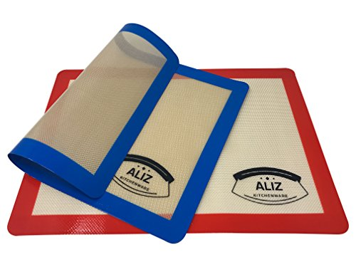 ALIZ Kitchenware Baking Mats Silicone 2 Pack Baking Sheets,Half Sheet Size 16.5