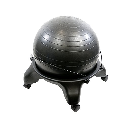 CanDo 30-1796 Ball Stool, Plastic, Mobile, No Back, Adult Size with 22