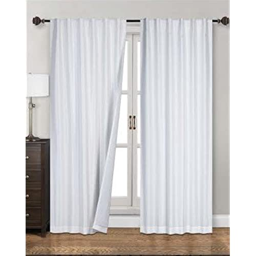 Siena Home Fashions Midnight Blackout Curtain 55x84 Backtab White