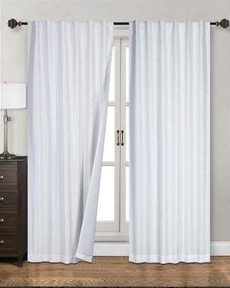 Siena Home Fashions Midnight Blackout Curtain (55″x84″) Backtab (White)