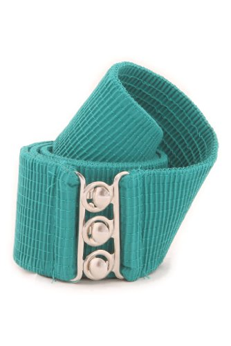 Malco Modes Wide Elastic Cinch Waist Belt Stretch Belt for Women, Plus Sizes Large Turquoise