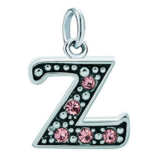 New A-Z Letter Initial Alphabet Beads Pink Charm Dangle Sale For Bracelets