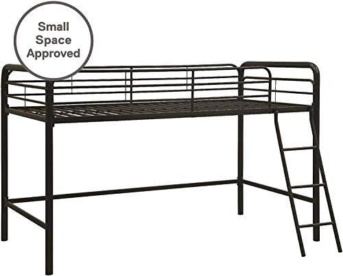 dhp junior loft bed frame with ladder, multifunctional space-saving design, black DHP Junior Loft Bed Frame with Ladder, Multifunctional Space-Saving Design, Black 411h3AC8zEL